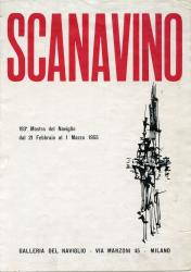 Catalogo per la mostra di Scanavino, Galleria del Naviglio, Milano, 01 Febbraio – 01 Marzo 1955 | Catalogue for the Scanavino exhibition, Galleria del Naviglio, Milan, February 21 – March 1, 1955